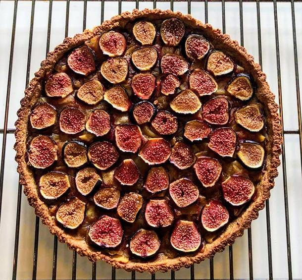 Whole Wheat fresh Figs & Apples Pie