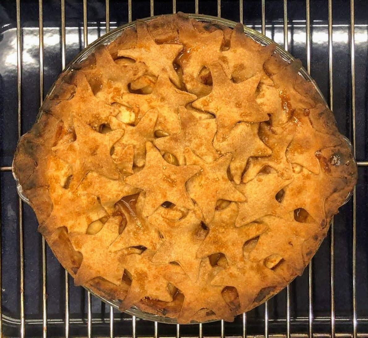 Apple Pie with Stars crust