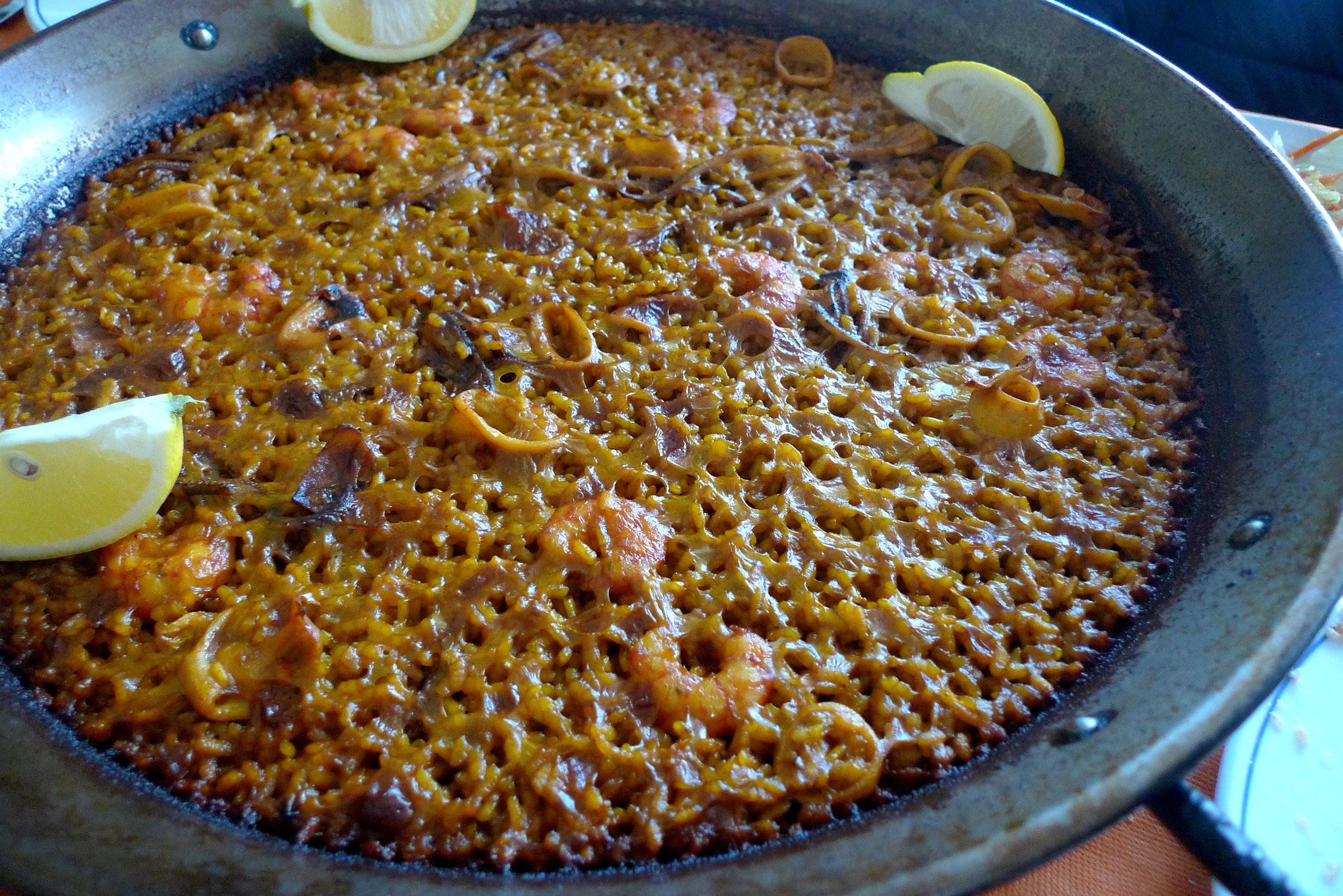 Arroz a Banda (Seafood Paella)