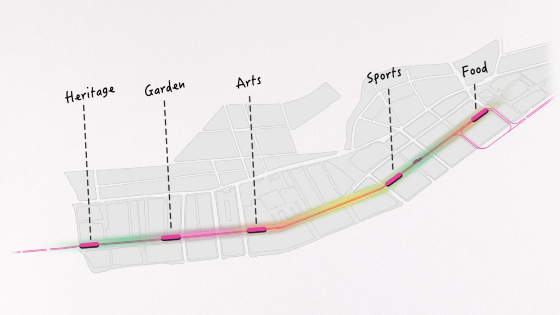 Five new tramstops on Des Voeux Road Central