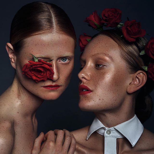  🌹🌹🌹 — Models: @phoebesturk @jonbchr1 — Mua: @mualisajohnsen  — #models #shoot #fashion #photography #potd #pose #freckles #beautyretouch #beauty