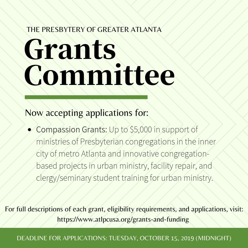 2019 October - PGA Grant Applications.png
