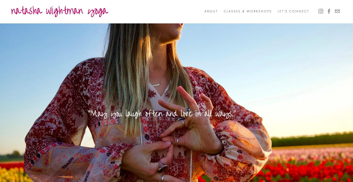 NATASHA WIGHTMAN YOGA website design - content duration - digital branding - messaging - SEO