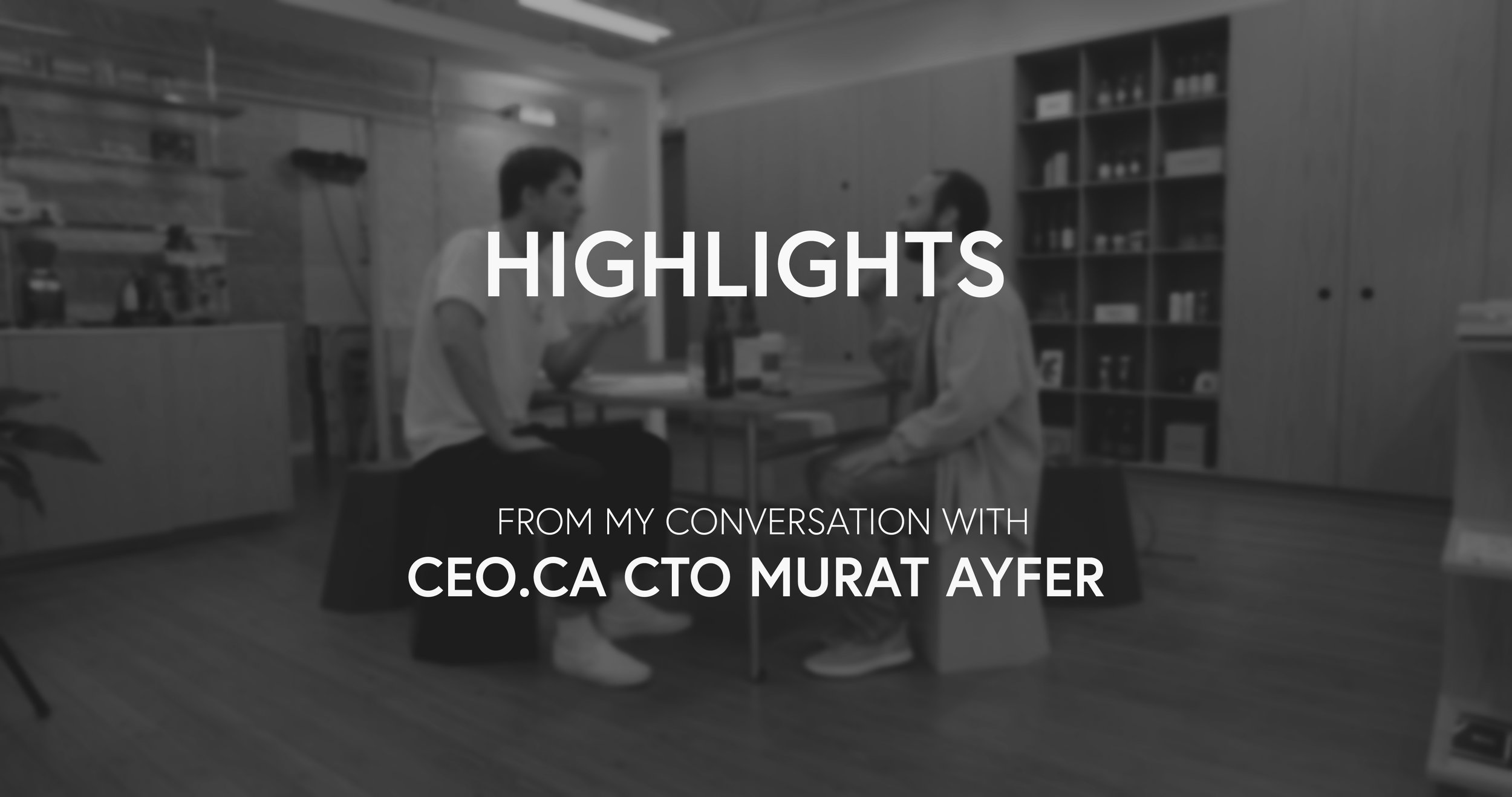 "Highlights from my conversation with Murat Ayfer. ""I sit down with Murat Ayfer, CTO of CEO.ca. Murat clearly and concisely explains the key fundamentals driving value into the Bitcoin network."""