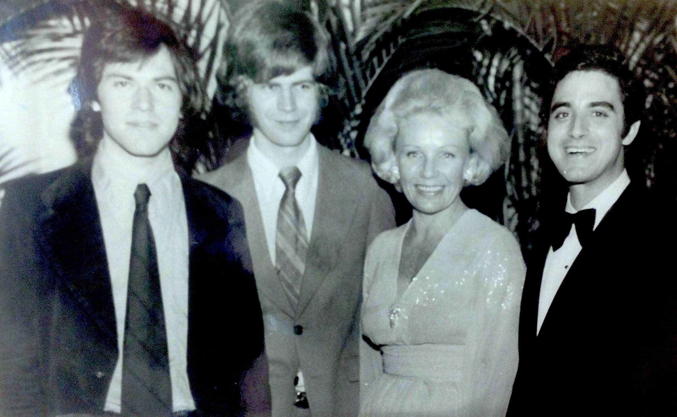 Winners of the 1975 National Competition with Lady Blanka Rosenstiel (L to R: Dean Kramer, Ian Hobson, Gustavo Ponzoa)