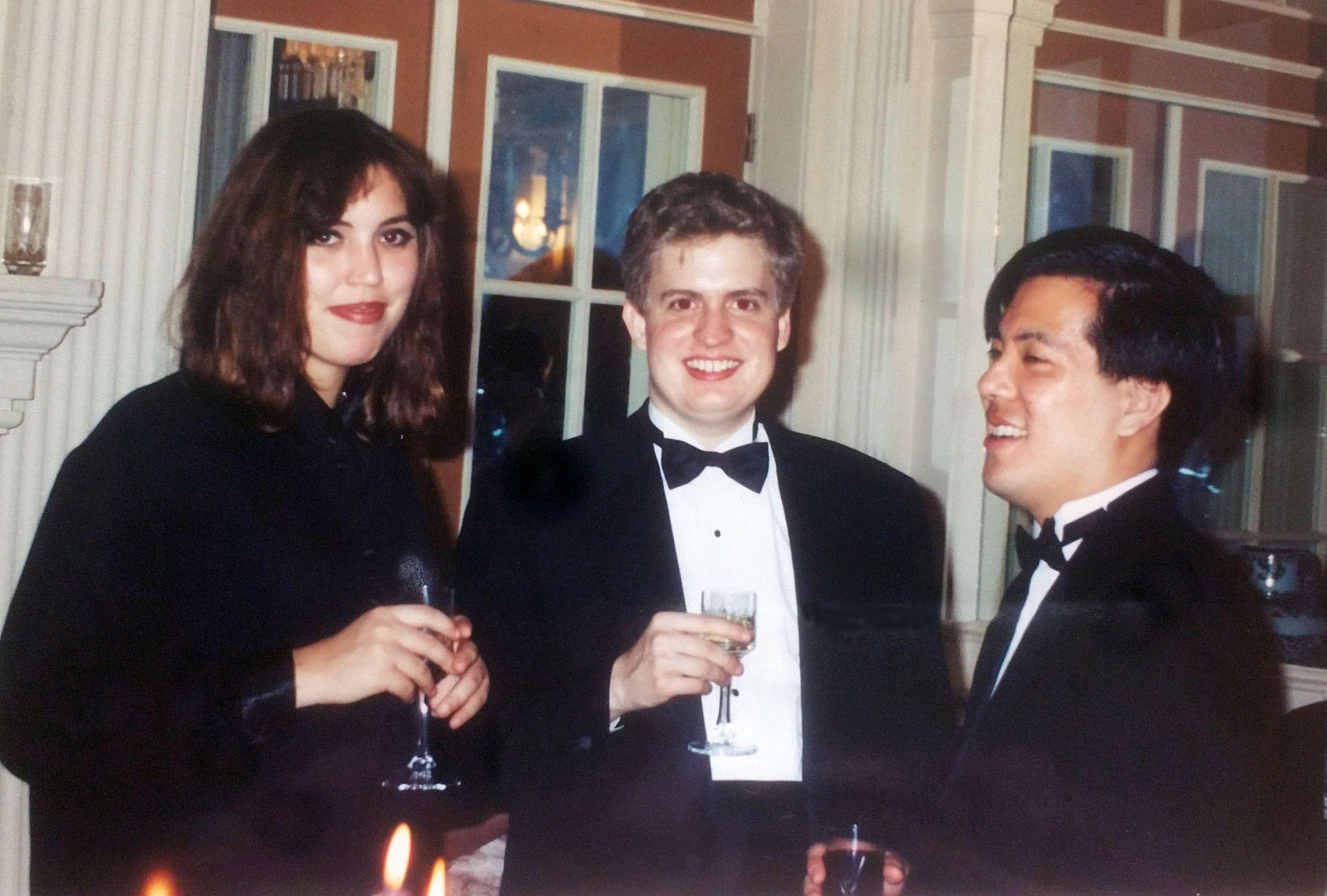 Laureates of the 1995 NCPC (L to R) Gabriela Montero, Andrew Armstrong, and Peter Miyamoto