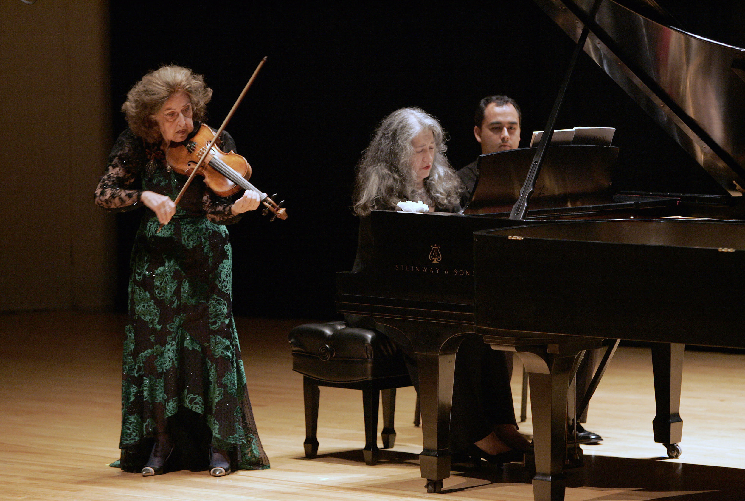 Ida Haendel and Martha Argerich at the Chopin Foundation's 30th Anniversary Concert