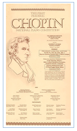 First Chopin Competition poster