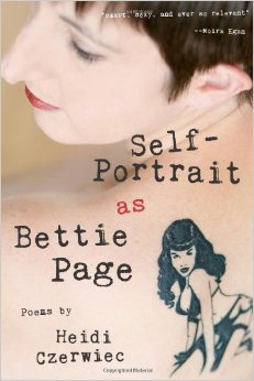 Self-Portrait as Bettie Page cover: author's back with Bettie tattoo. Link to publisher.