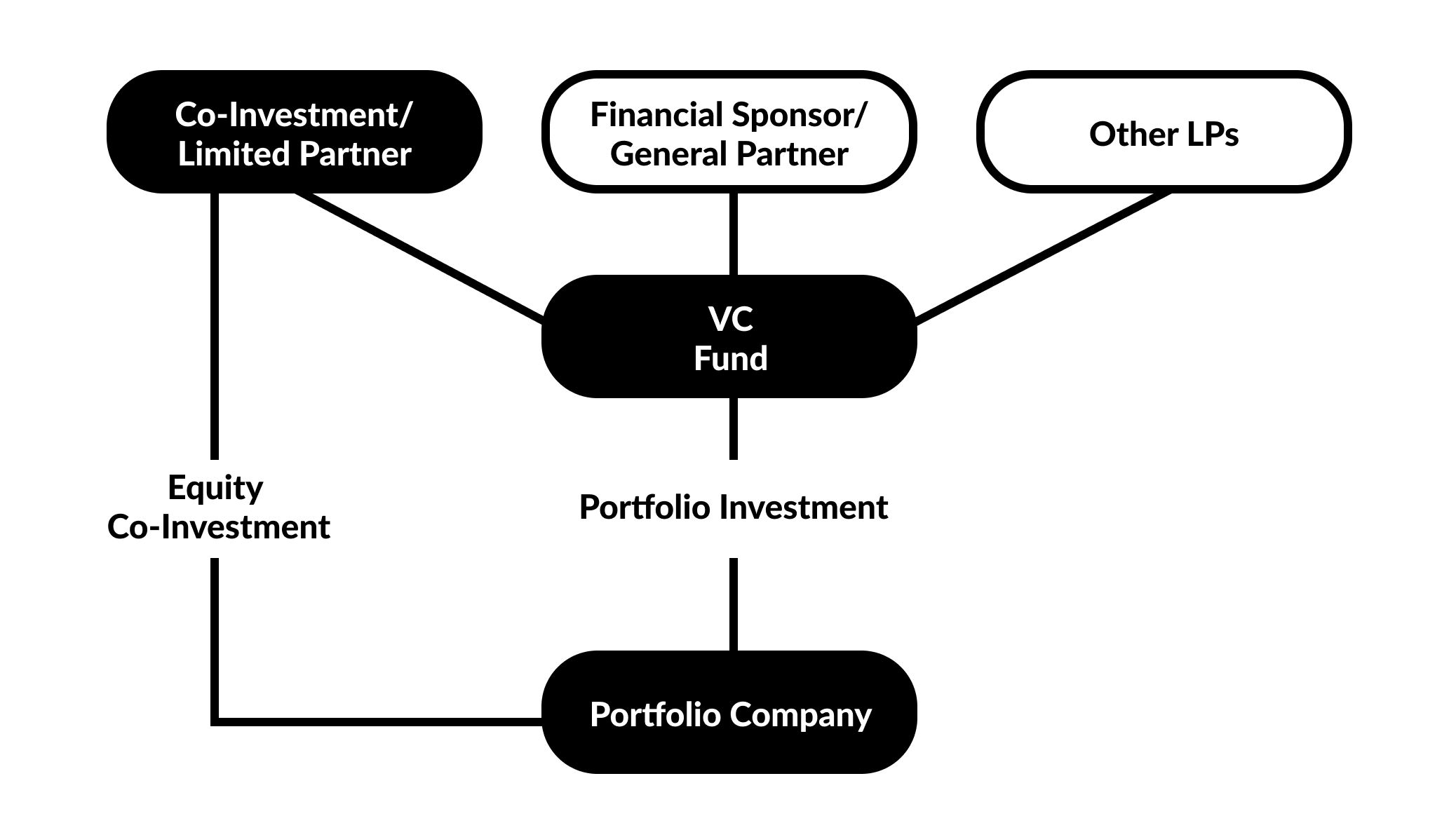 Figure 1. Equity Co-investment & Direct Fund Investment Diagram
