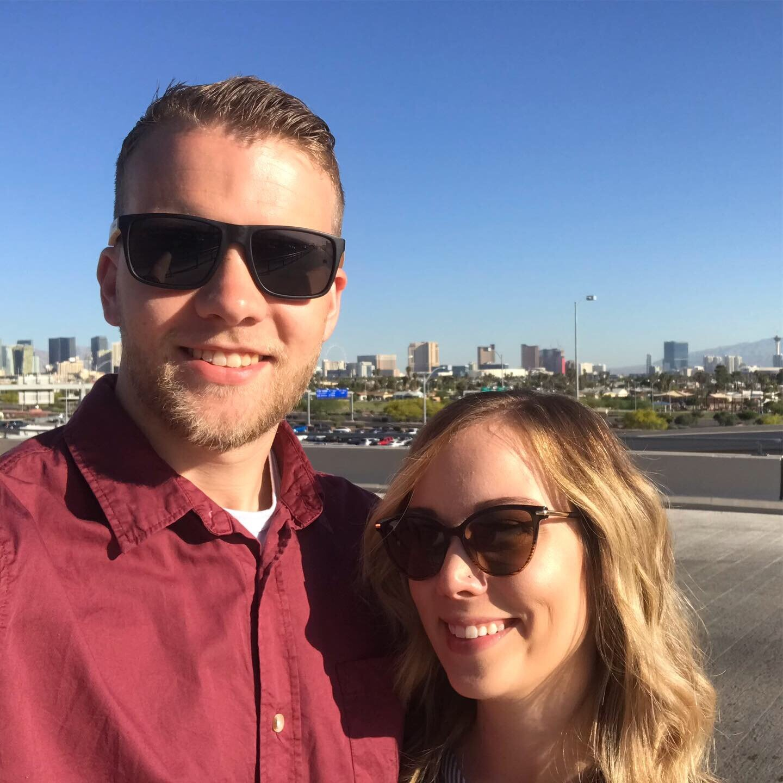 Kayla and I in Las Vegas, Nevada.