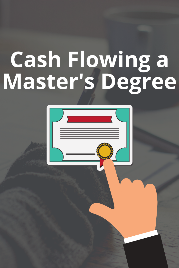 How we're cash flowing my wife's master's degree through WGU. This will be our 5th combined degree with less than $5k in student loans.