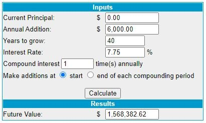 an image of VFIAX compounded interest after 40-years.