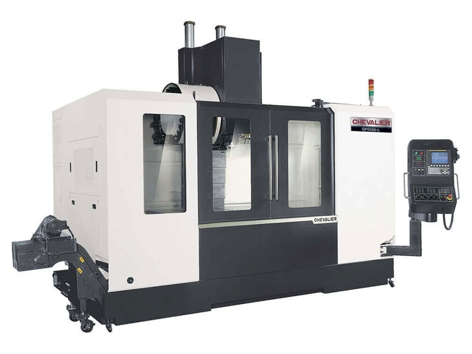 """QP-2560L $125,900 - HP: 20RPM: 10,000Travel: 60"""" x 25"""" X 25""""Control: Fanuc Oi MF Mold PackageAccessories & Options: CT40, 24 ATC, big plus spindle, CTS prep, 4th axis prep, oil skimmer, chips flush, lift up chips conveyor, (2) internal chip augers, Fanuc Mold Package"""