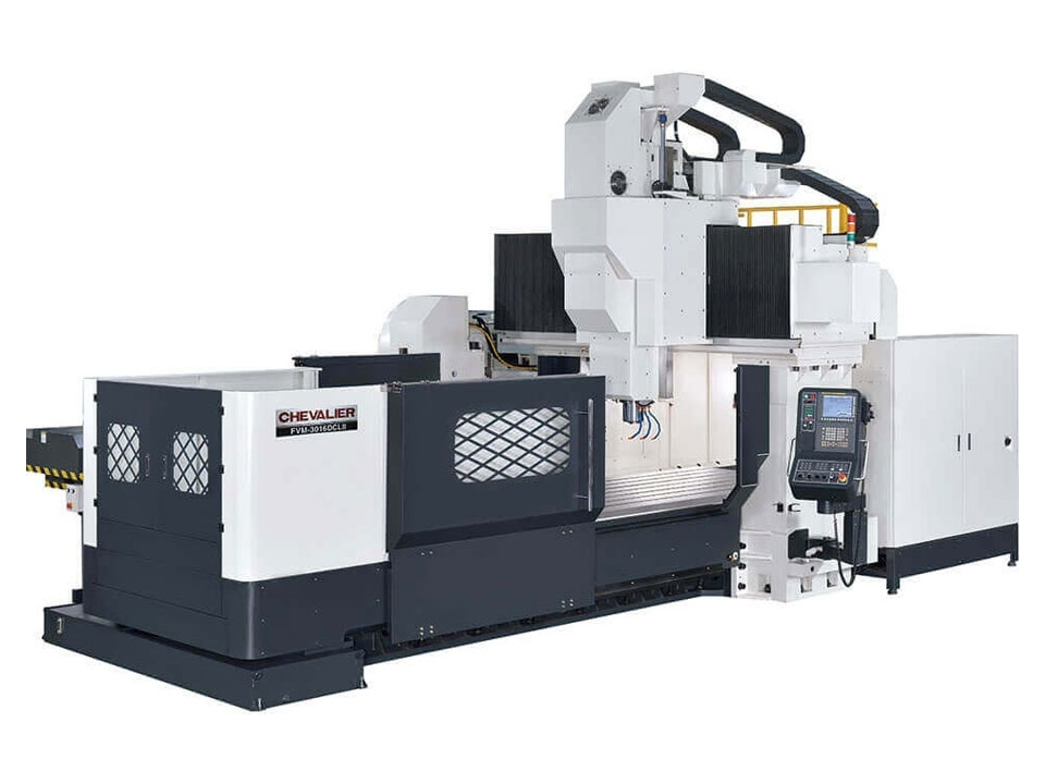 """FVM-3016DCL II $314,000 - HP: 35RPM: 6,000 (2-speed gear)Travel: 122"""" x 63"""" X 30.7""""Control: Fanuc Oi MF Mold PackageAccessories & Options: CT50, chip augers, conveyor, full splash guards, 24 ATC, Fanuc Mold Package"""