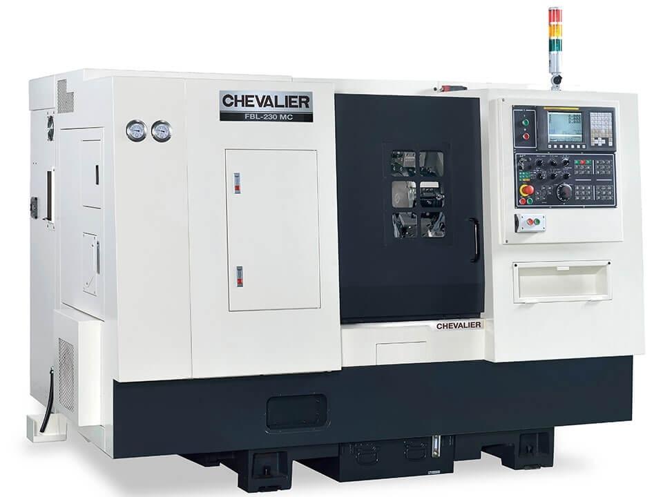 "FBL-230 $66,800 - Chuck Bar/Capacity: 8"" / 2.0""Max Swing/ Cutting Diameter/ Length: 21.6""/ 12.2"" /15.9""HP: 20RPM: 4,000Control: Oi-TFAccessories & Options: Box ways, roller thrust bearings, 12-station servo turret (1"" OD shank), manual MT4 tailstock, conveyor"