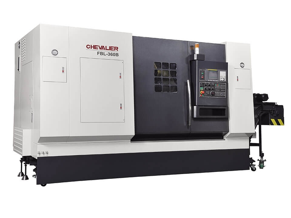 """FBL-360BL $179,500 - Chuck Bar/Capacity: 15"""" / 4.5""""Max Swing/ Cutting Diameter/ Length: 30.3""""/ 20.8"""" /78""""HP: 35RPM: 2,000 2 speed gearboxControl: Oi-TDAccessories & Options: Box ways, roller thrust bearings, 12-station turret (1 .25"""" OD shank), oil skimmer, auto Renishaw tool setter, programmable MT5 tailstock, conveyor"""