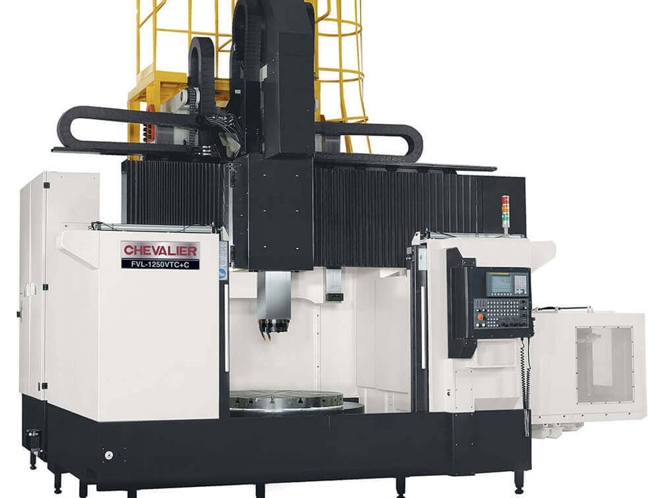 """FVL-1250VTC+C $556,500 - Chuck: 50""""Max Swing/ Cutting Diameter/ Height: 63""""/ 63"""" /47.2""""HP: 60RPM: 300 2 speed gearboxControl: Oi-TDAccessories & Options: 20-ATC, live tooling with C axis, oil skimmer, 300 PSI CTS, auto door, chip conveyor"""