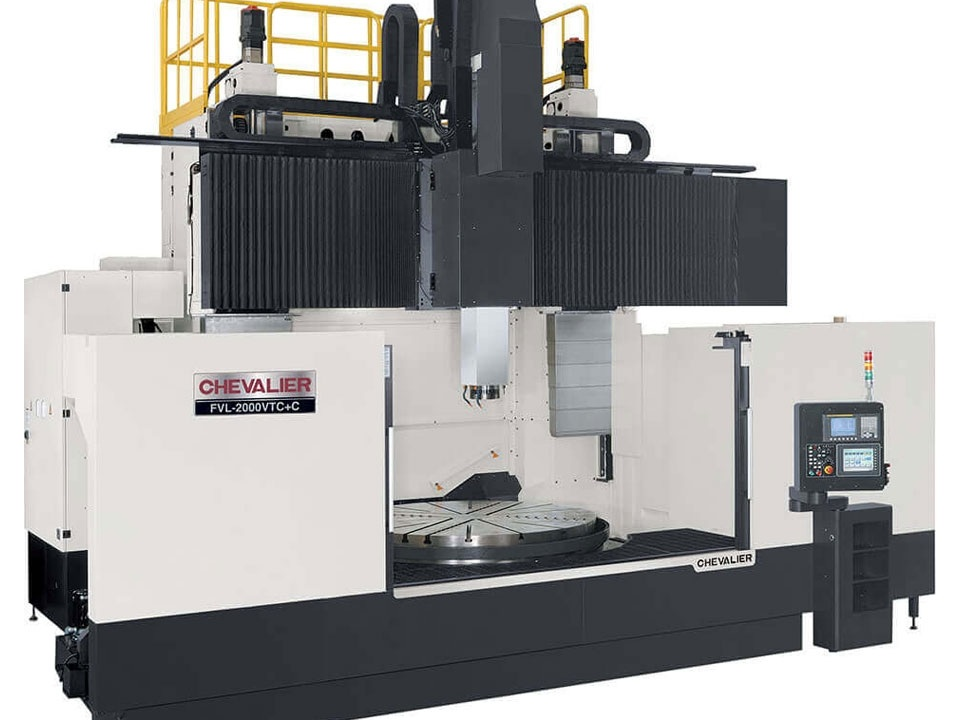 """FVL-2000VTC $677,500 - Chuck: 78""""Max Swing/ Cutting Diameter/ Height: 98.4""""/ 98.4"""" /63""""HP: 100RPM: 200 2 speed gearboxControl: Oi-TDAccessories & Options: 12 ATC, oil skimmer, auto door, chip conveyor"""