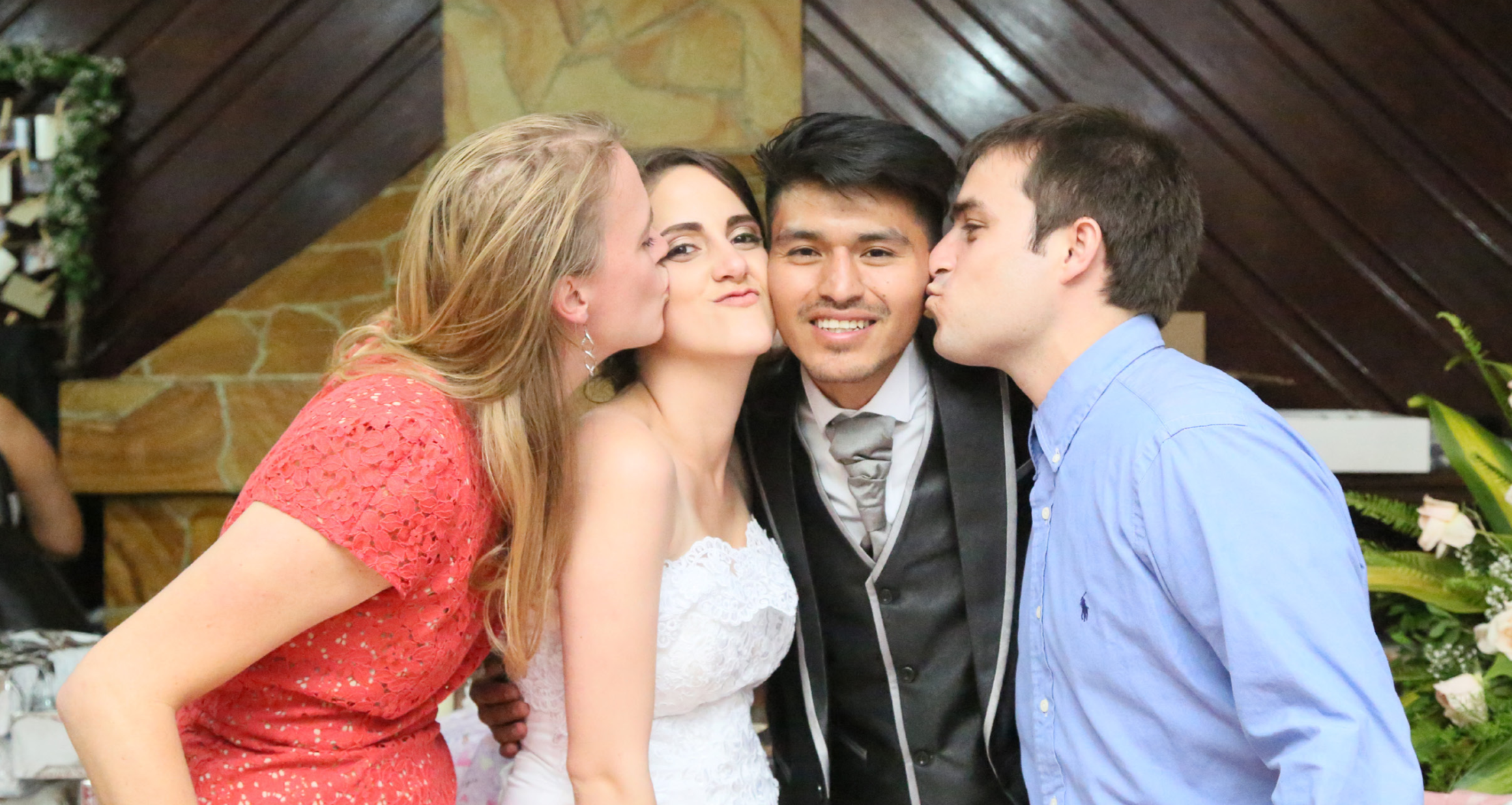 Read how one family was able to be a part of their child's wedding! -
