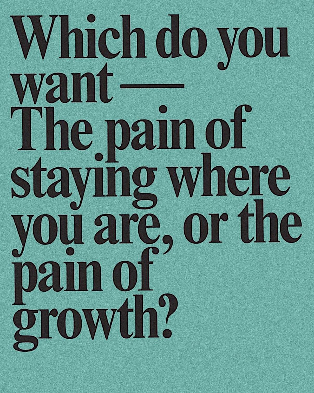 SPIRITUAL GROWING PAINS