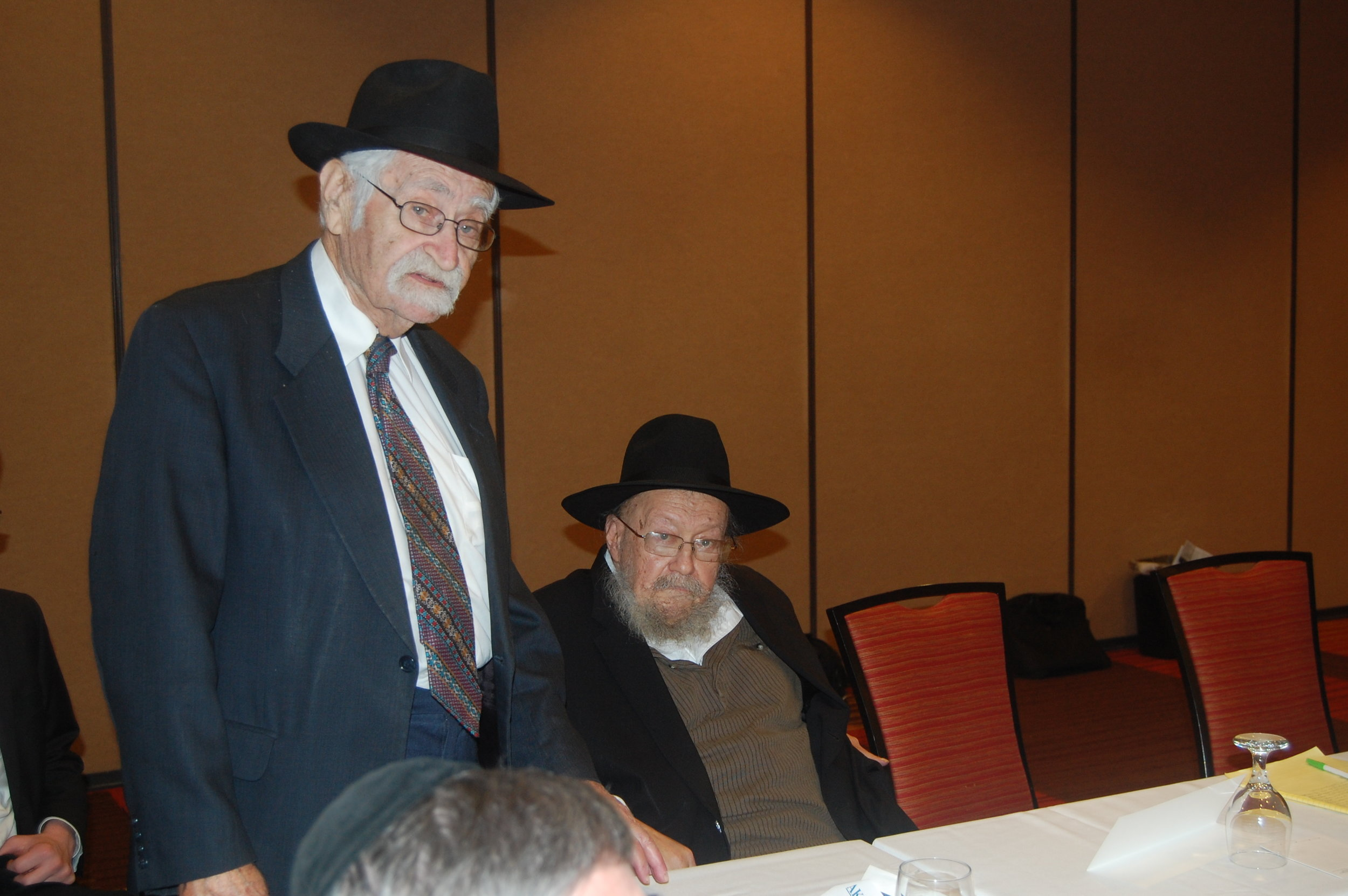 Reb Chaim Goldzweig and Rabbi Nota Greenblatt  at the AKO Convention Oxnard CA February 2017.JPG