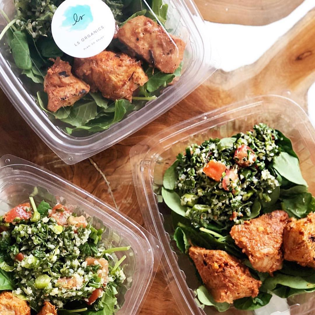 Meals & Snacks - We offer fresh, organic, grab-and-go plant-based meals and snacks from LS Organics and Love Food Central.