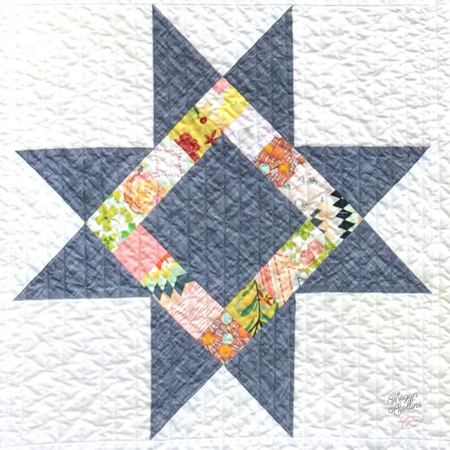 scrappy variable star quilt block