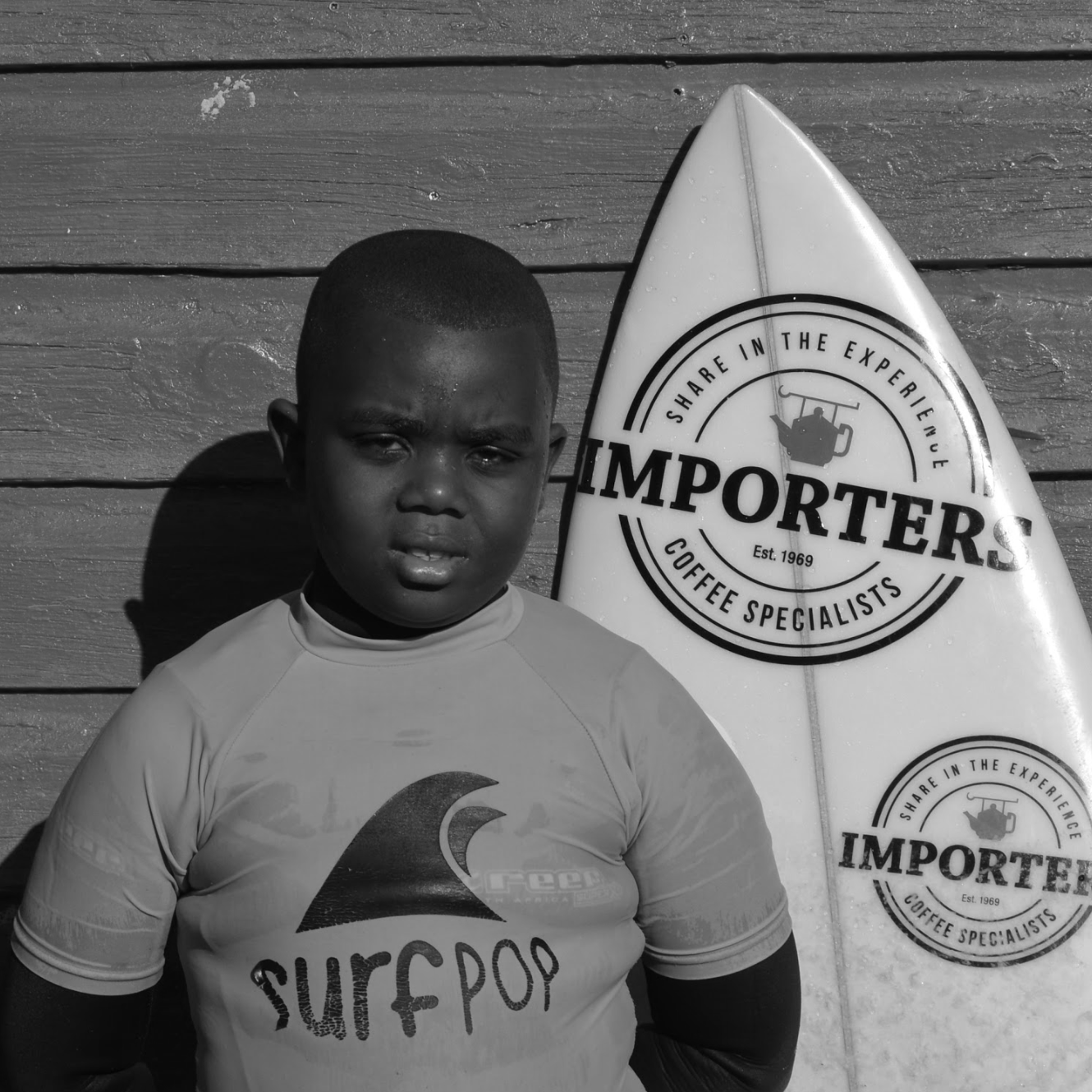 """I like surfing because I feel free in the water. I love being part of Surfpop because I can spend time with my friends and because Bongi (Surfpop coach) teaches me so I can be a good surfer one day. """