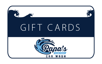 gift cards - We offer both $25 and $50 gift cards available either online or at the front desk.For every puchase of a $50 gift card you will recieve one FREE diamond wash, and for every purchase of a $25 gift card you will recieve one FREE silver wash.