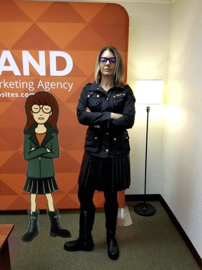 Channeling my inner Daria at Nubrand's Office while on-site for a meeting on a collaborative project.