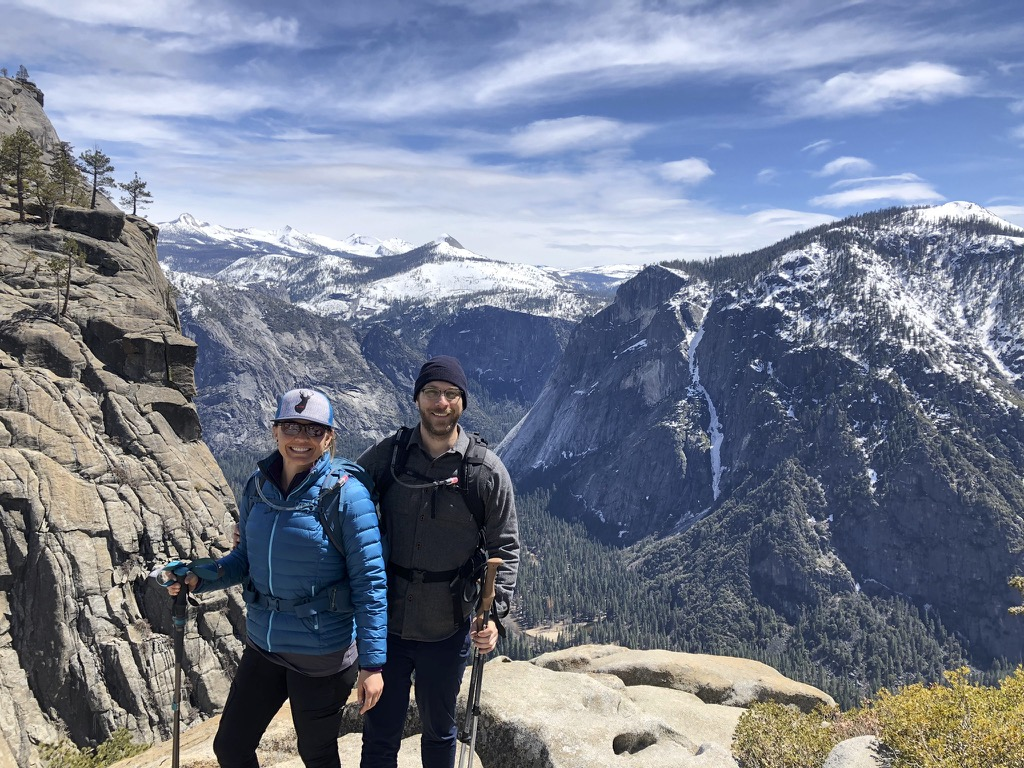 Taking time to adventure is always great for the creative process. My honey and I love to go on big mountain day hikes in the Sierras. Here we are on my first trip to Yosemite (Yes, I am a California native and I am ashamed to say my first trip to this sacred place recently happened).