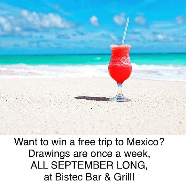 ATTENTION! Bistec Bar & Grill is GIVING AWAY 4, yes 4...TRIPS TO MEXICO for 4 lucky customers—To kick things off, we're offering a FREE appetizer for an order totaling $20 or over. So what are you waiting for?! Come to Bistec Bar & Grill, get yourself a free appetizer AND a trip to Mexico! 🎉 Drawings are held on Sundays—1 entry per table. Talk to your server about what you can win 👏 . . . #bistecbargrill #monday #win #winafreetrip #deal #save #sunday #lifestylechicago #mondaymotivation #lincolnparkchicago #chicagoland #chicagoeats #deliciousfood #mexicanfood #lunch #bistecbargrill #drinkchicago #grilling #appetizers #chicagofoodie #foodie #lunchtime #chicago #dinnerdate #workweeklunch #yum