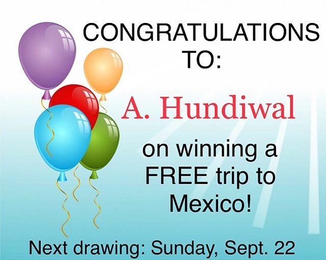 We have yet another winner of our September Mexico giveaway! Want a chance to win a free trip to Mexico? Come to Bistec and enter! It's as simple as that. One entry per table! . . . #winnerwinnerchickendinner #winatrip #thursday #lincolnparkchicago #chicagoland #chicagoeats #deliciousfood #mexicanfood #lunch #bistecbargrill #drinkchicago #grilling #appetizers #chicagofoodie #foodie #lunchtime #chicago #dinnerdate #workweeklunch #yum