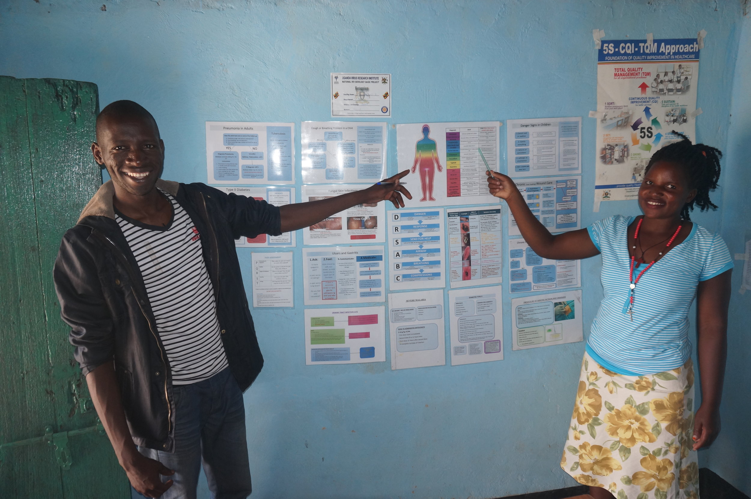 Stella and Emma Lamoki guidelines display.JPG