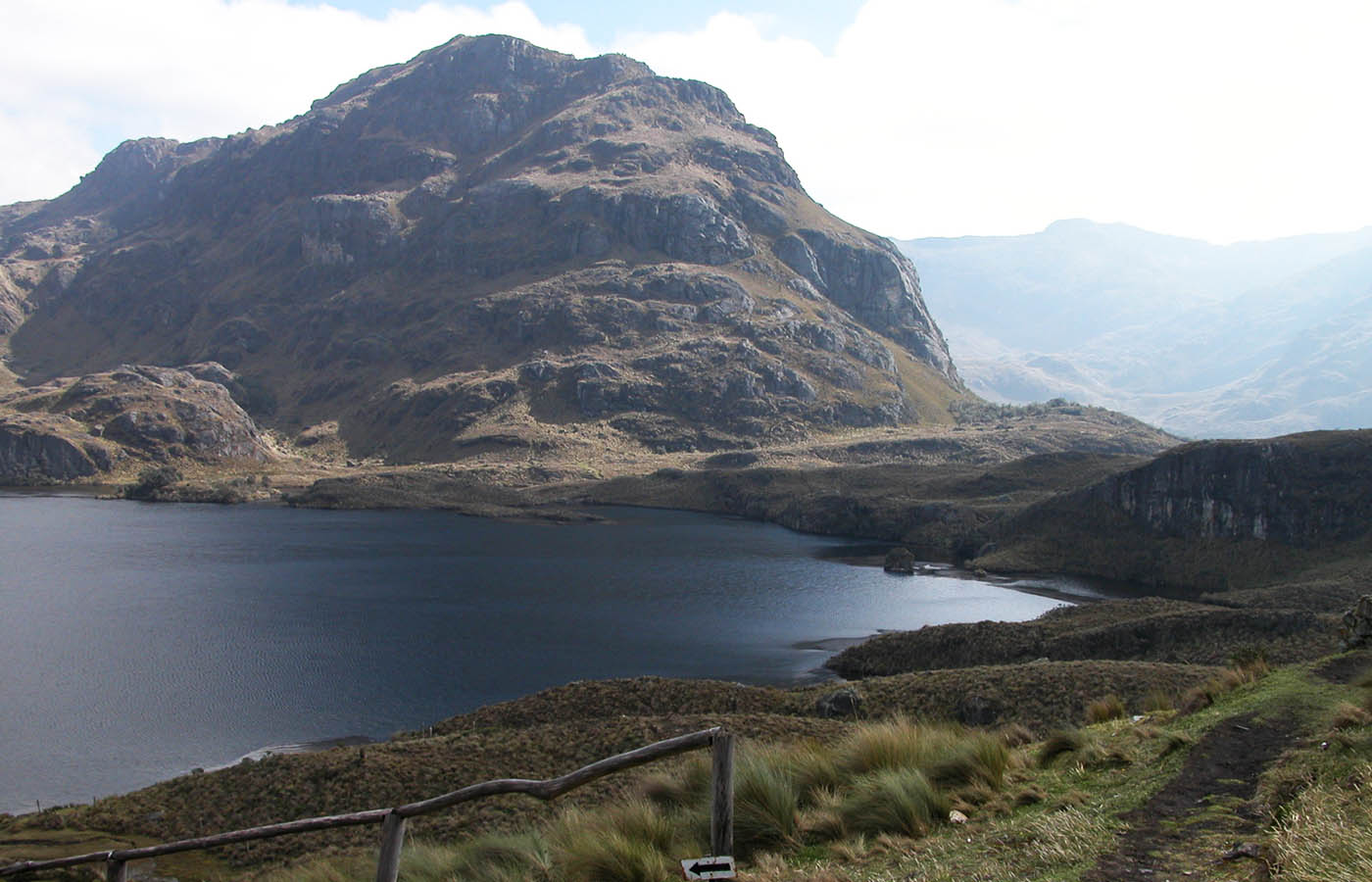 Cajas National Park - The Cajas National Park can be found in the highlands of Ecuador, about 30 km west from Cuenca. The park is between 3100m and 4450m above sea level which lead to a tundra vegetation and a jagged landscape of hills and valleys.