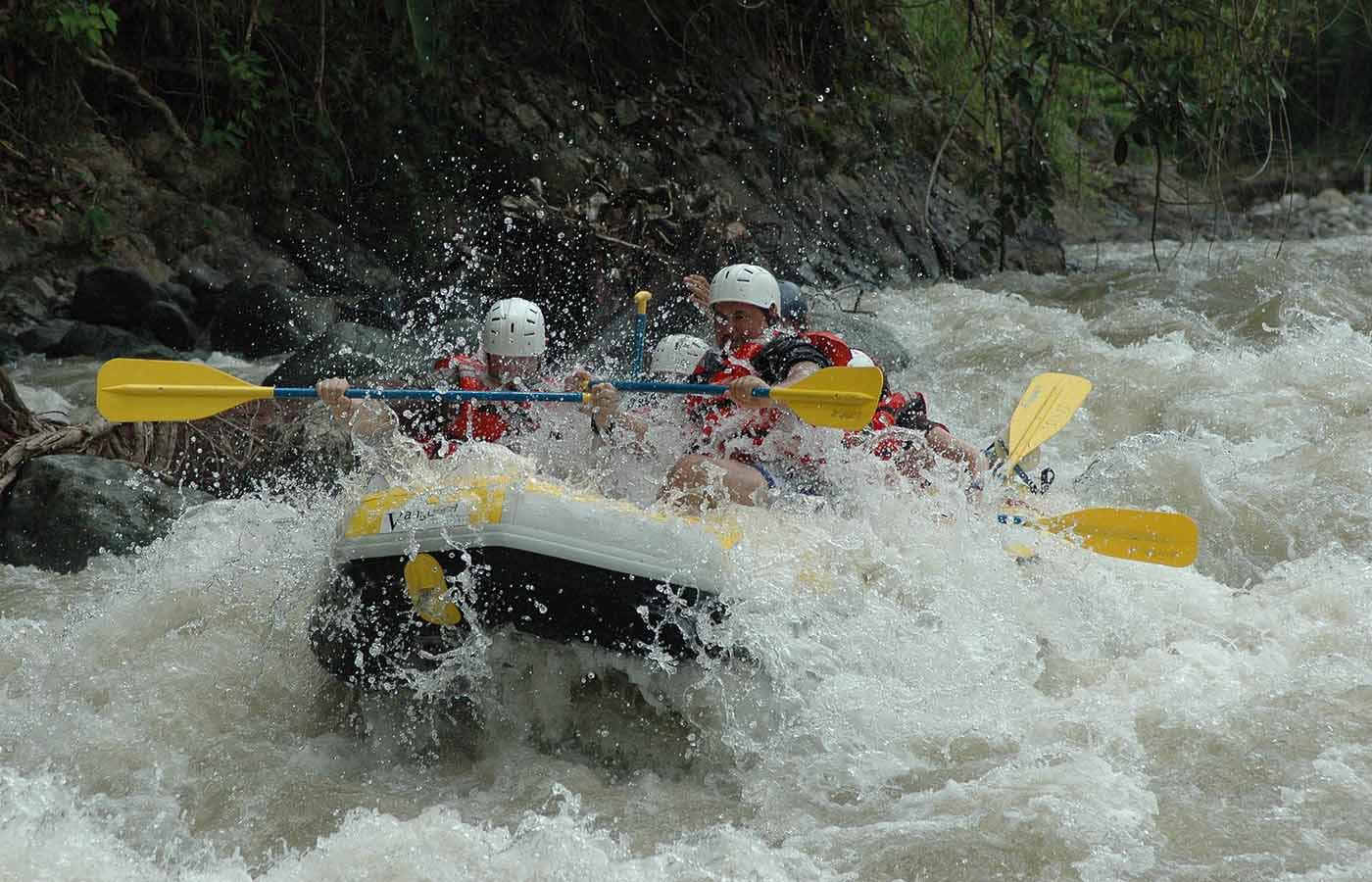 Jondachi - Jondachi is one of the newest rafting opportunities in Ecuador. Before actually getting into the raft and beginning the journey, you will be given the opportunity to explore a hidden river cave and go for a refreshing dip, starting the day out right. After spending some time in the water, you can take a short hike to get to the put-in point and set off on the 38km run for the day.This is a solid class III-IV river and is not a good option for beginners, as many of the maneuvers are technical and require precise navigation in the whitewater between granite boulders. But, if you've had some whitewater experience, then this will be a truly exciting adventure!