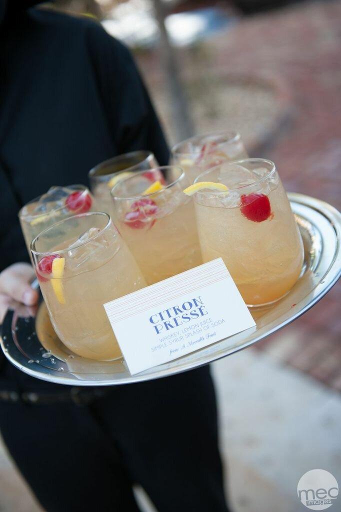 platter of citron presse cocktails