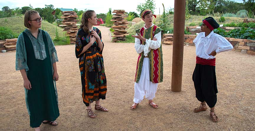 Upstart Crows of Santa Fe perform Hamlet at the Botanical Garden • July 2017