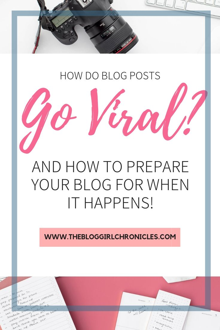 Useful information and tips on what it means to have a viral blog post: how do Blog Posts go Viral and what to do with your posts to make sure you are optimizing it for your goals! #blogging #bloggingtips