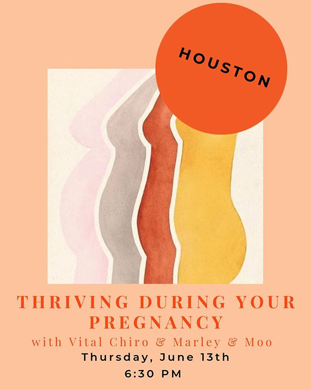 So excited about this event next month! Mark your calendars, it'll be at @lemon_laine with @marleyandmoo and @vital_houston talking about how to thrive during your pregnancy 🤰🏻 🥳 this event is for all new mommas and mommas to be!