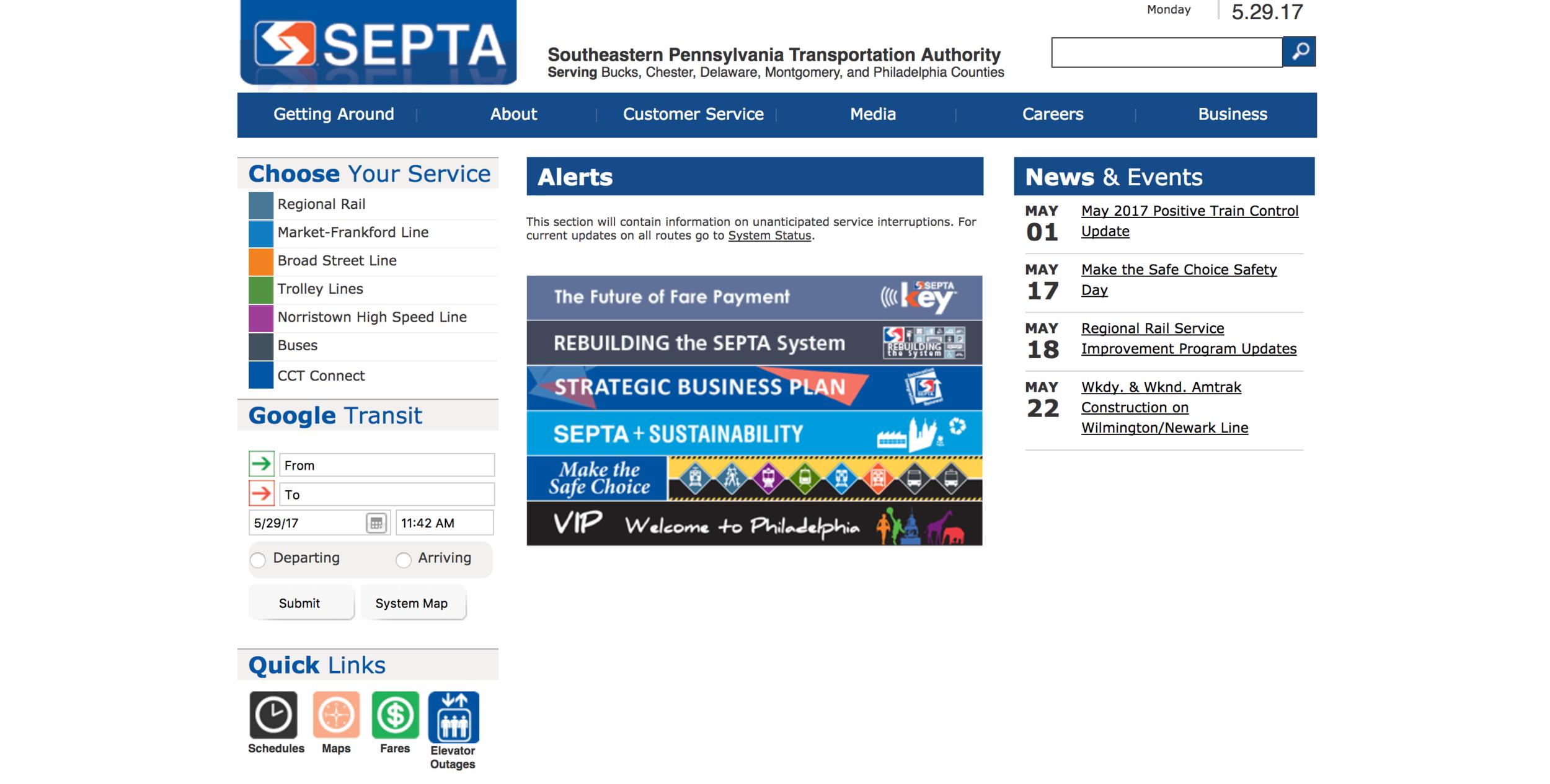SEPTA's website