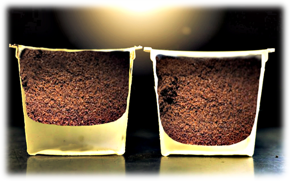 12 Gram K-Cup Filter - Our K-Cups have 33% more coffee in every cup! The national Brands use mainly 9 grams of coffee per cup. Those cups use a paper filter, and there has to be a lot of void space between the filter and the bottom of the cup to keep the bottom needle from poking a hole in the filter.Alpine changed the filter from paper to medical grade PP. This allows us to fill the cup with 33% more coffee because the needle cannot penetrate the PP filter. It just moves it up a little. This is what makes your Alpine cup of coffee stronger. Now available in all 19 flavors.