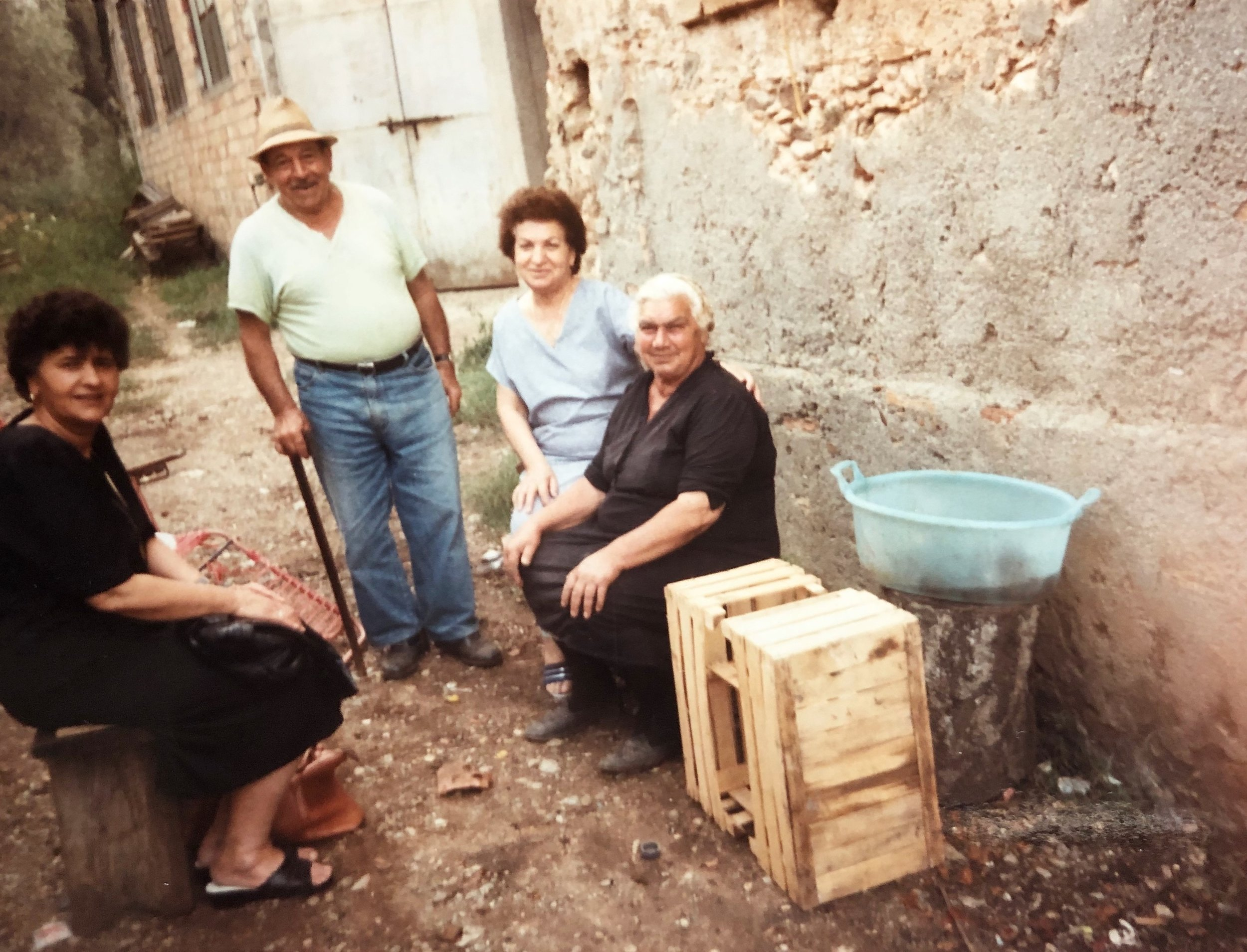 Nonna Rosaria visiting her home in Italy at 68 years of age