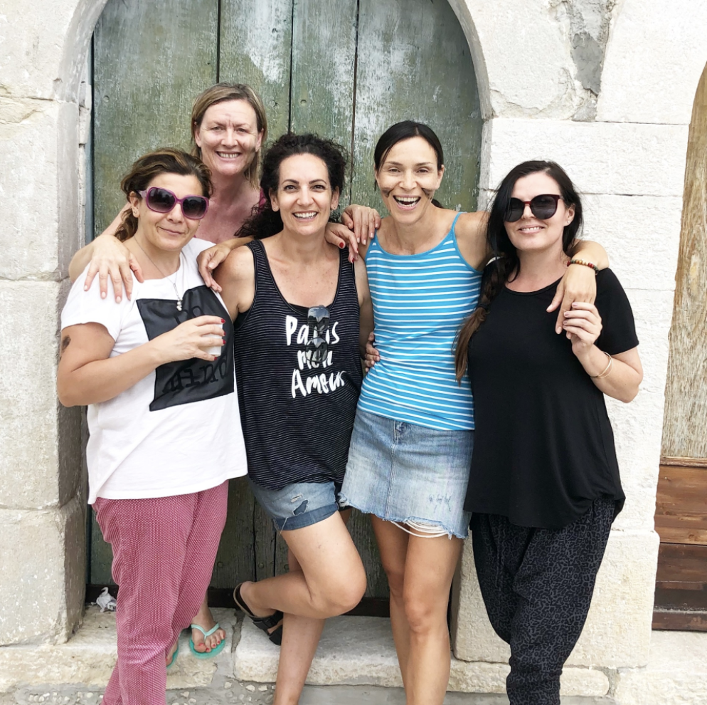 Pictured : some of the strongest women I know. Family & friends of the heart - location: Farmhouse Italy  L-R Silvana, Adriana, Myself, Fausta, Rachel