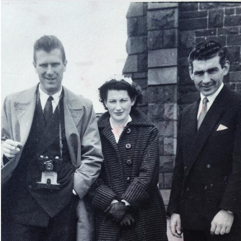 Pictured Nello Bacchia, Livia Bacchia e Zio Fidenzio Carli (Paola's mum's brother)