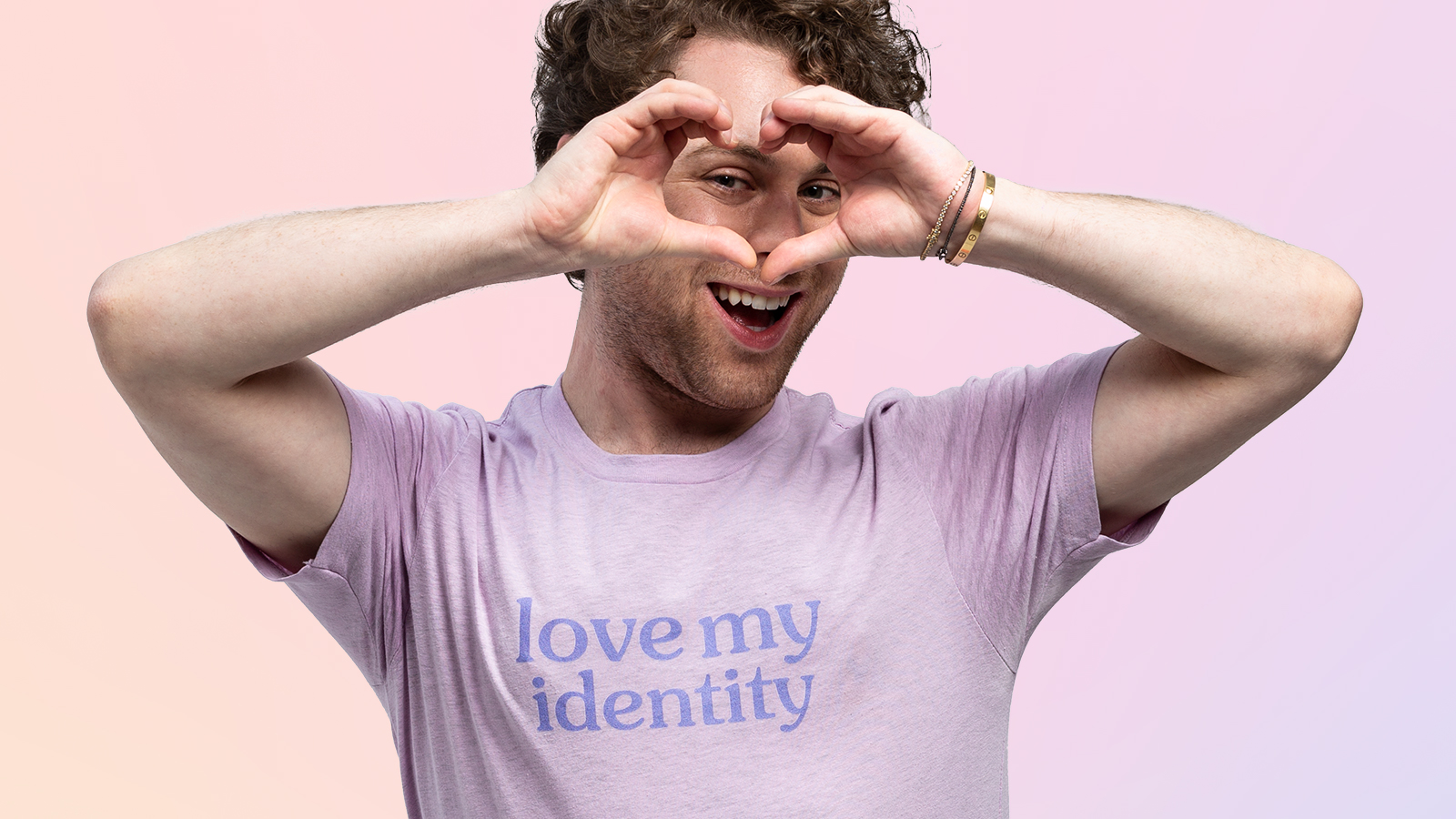 Love My Identity Tee in Lilac