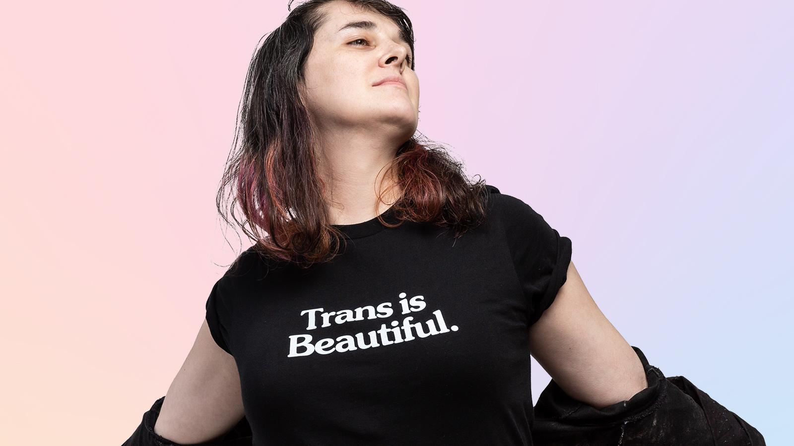 Trans is Beautiful Tee in black
