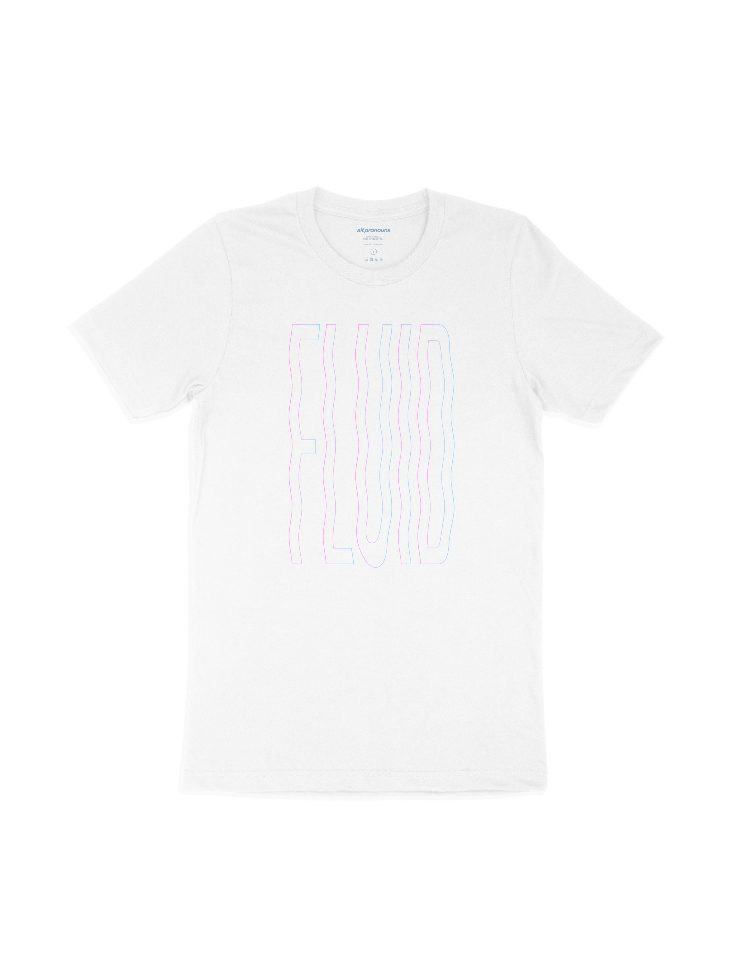 Alt Pronouns Fluid Vibes Tee in White