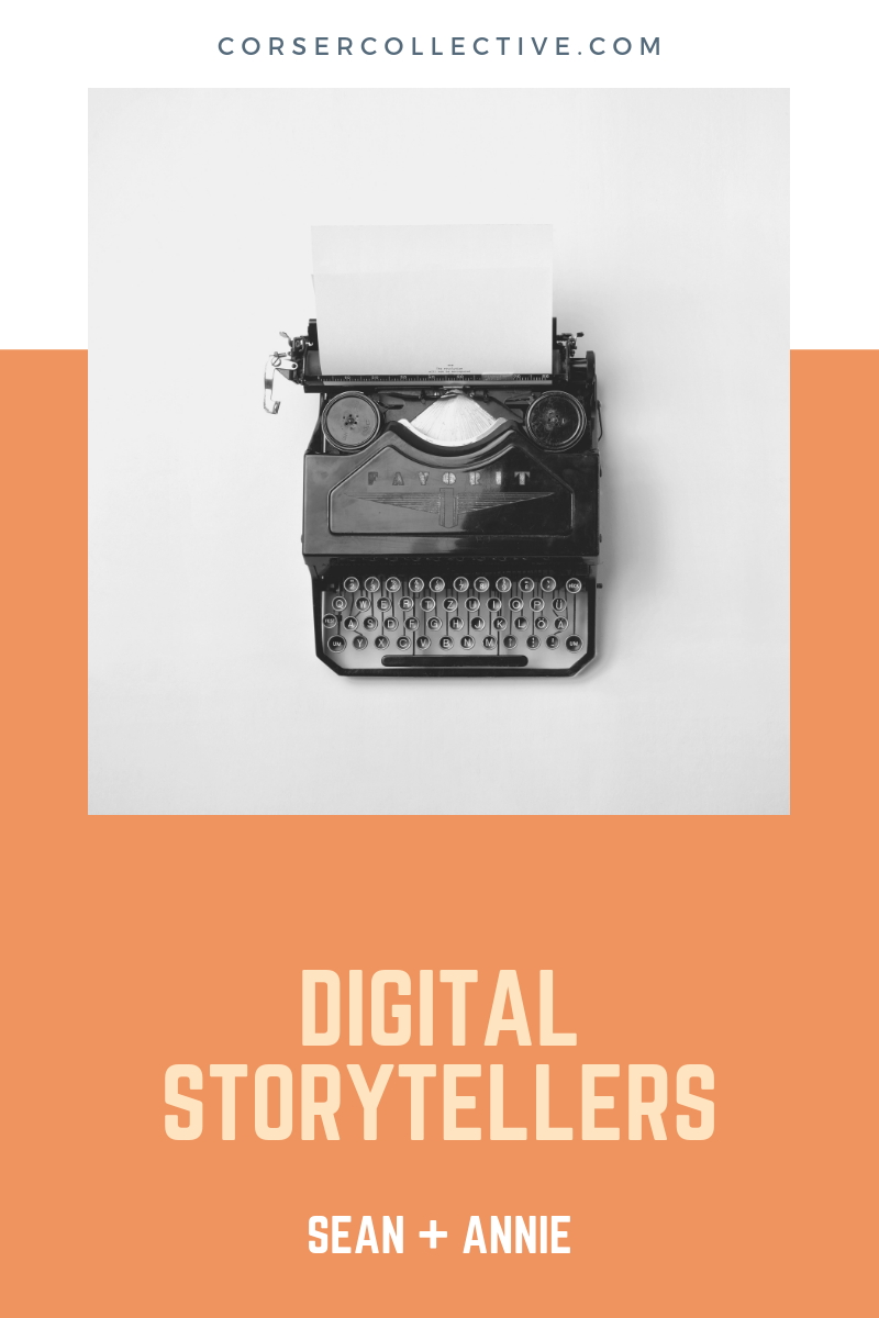 Digital Storytellers - Do you struggle to articulate your passion and story? We'd love to work with you by providing custom content to help you tell your audience who you are and why they should be interested in what you have to offer.